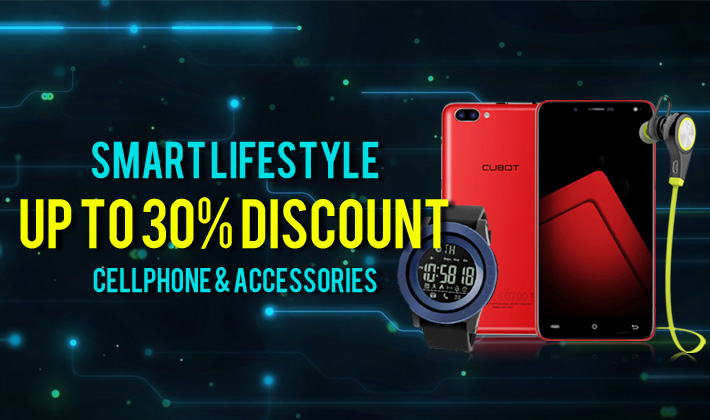 Up to 30% discount of Cellphone & Accessories!