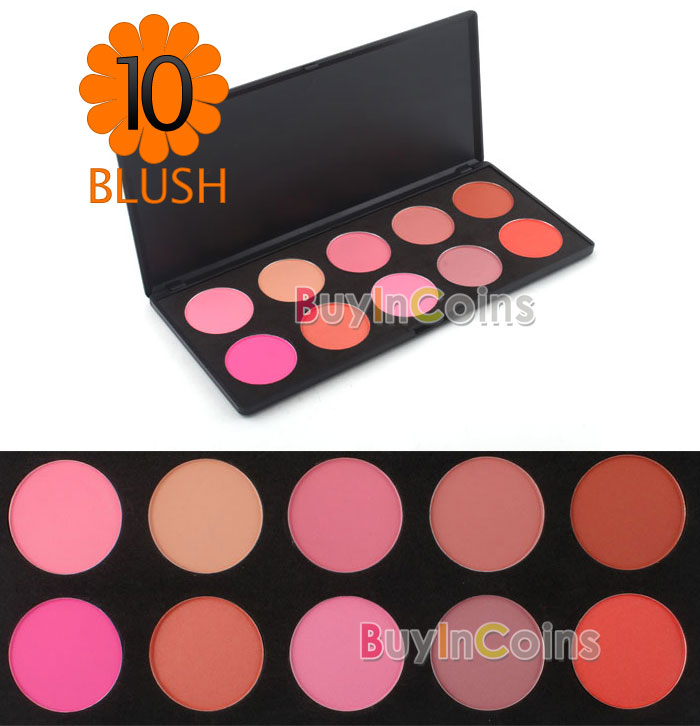 10 Color Makeup Cosmetic Blush Blusher Powder Palette