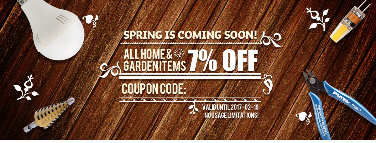 All Home & Garden Item 7% Off