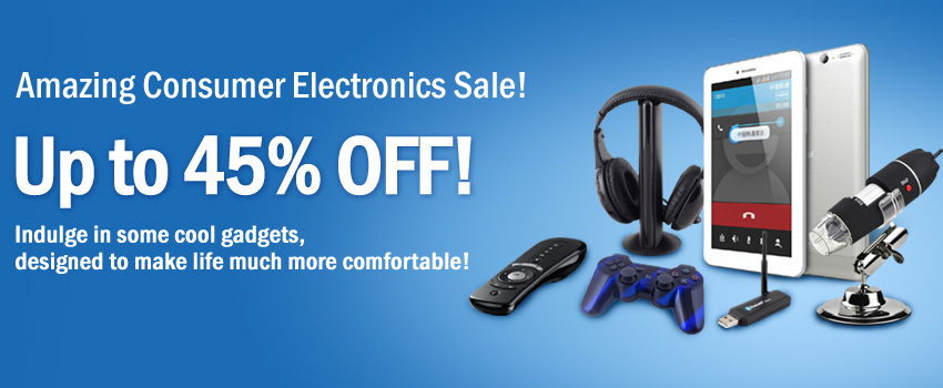 Consumer Electronics with huge Discounts!