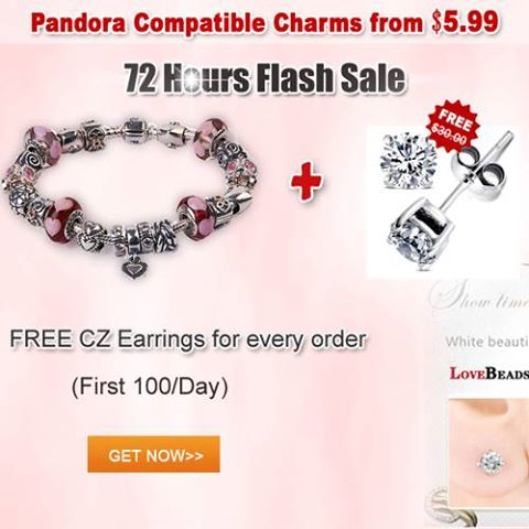 Free CZ earings for every order, flash sale