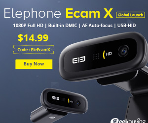 $14.99 for [Pre Sale]Elephone Ecam X 1080P HD Webcam with coupon: EleEcamX