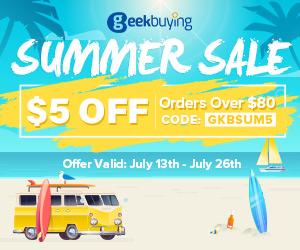 Спестете $5 за поръчки над $80 с код GKBSUM5