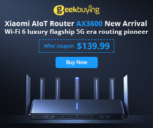 $139.99 for Xiaomi AIoT Wireless Dual Band Router with the coupon: GKBAloT3600