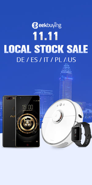 Geekbuying 11.11 Local Stock(DE/ES/IT/PL/US) Sale