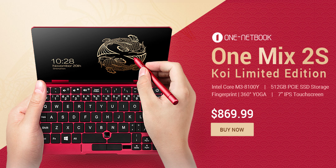 One Netbook One Mix 2s Koi Limited Edition Sale