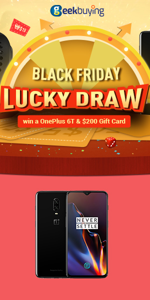 Play Lucky Draw to win a OnePlus 6T & 200 Gift Card