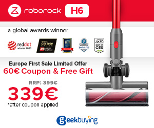 339EUR for Roborock H6 Vacuum Cleaner & free gift with coupon H63399