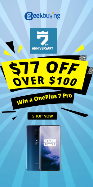 Geekbuying 7th Anniversary Sale - Up to 70% Off