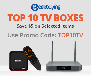 Top 10 TV Boxes, save $5 on selected items