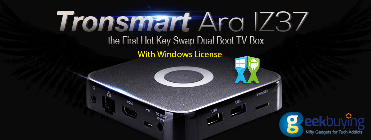 The first hot key swap dual boot tv box with windows license