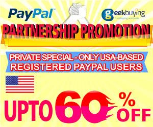 PayPal & GeekBuyingJoint Promotion
