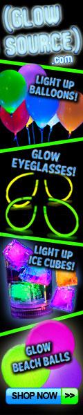glow beach balls, litecubes, glow eyeglasses