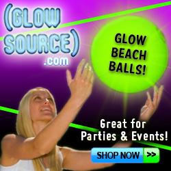 glow beach balls