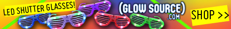 Glow Source LED Shutter Glasses