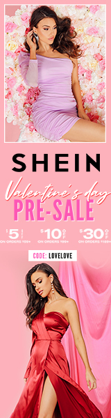 Valentine's Day Pre-Sale at us.SHEIN.com. Up to $30 off  with Code LOVELOVE.