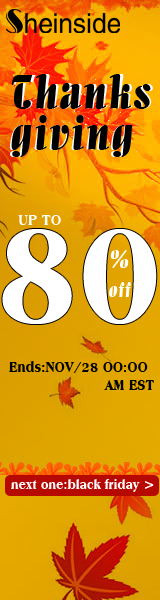 Save up to 80% off Thanksgiving Day at Sheinside.com