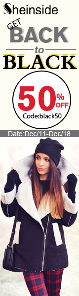 Save 50% off during the Back to Black Sale at Sheinside.com!  Enter code BLACK50 at checkout through 12/18!