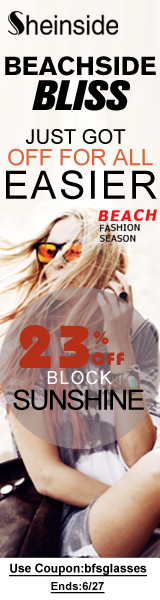 Save 23% off Beach Fashion Sunglasses at SheInside.com!  Enter code BFSGLASSES at checkout.