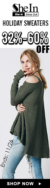 Save 32-60% off holiday sweaters at us.SheIn.com! US only sale ends 11/26
