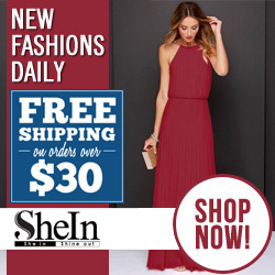 Free Shipping on orders over $30 at Sheinside.com