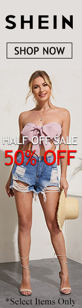 Half Off Sale at us.SHEIN.com. Take 50% off. No Code Required. Offer Expires 07/05/2020