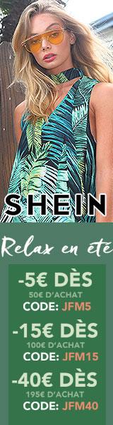 Profitez de jusqu'à 40€ de rabais à fr.SheIn.com! termine 29/5