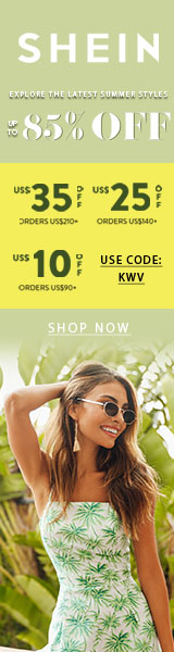 Latest Sale - Save $10 off $90 at www.SHEIN.com with code KWV Offer Expires - 05/20