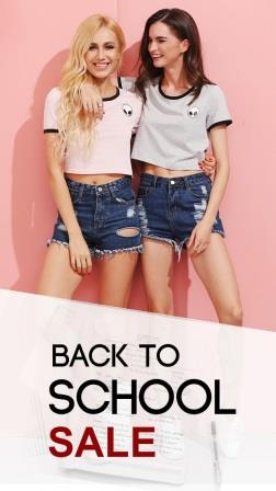 Back to School Sale at SheIn