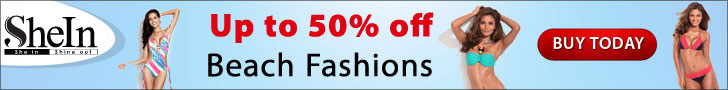 Save up to 50% off the latest beach fashions at SheIn.com