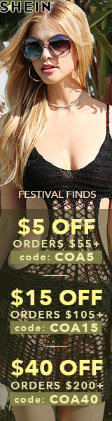 Enjoy $40 off orders $200+ with coupon code COA40 at SheIn.com! Ends 4/10