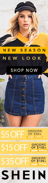 New Season, New Look! Enjoy $35 off orders $199+ with coupon code TFP35 at SheIn.com! Ends 10/2