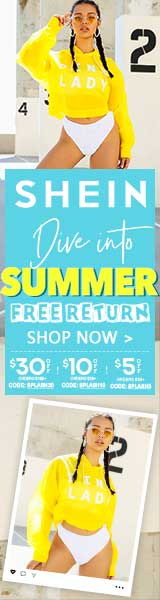 Dive into Summer Sale - $10 off orders of $99 or more at us.SHEIN.com with code SPLASH10 Offer Expires - 06/10