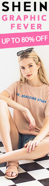 Graphic Fever Sale!  All Items up to 80% off  at SheIn.com! Ends 7/10