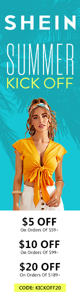 Summer Kick Off at us.SHEIN.com. Take up to US$30 off orders with Code. Offer Expires 06/07/2020