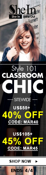 Save up to 45% off classroom chic styles at SheIn.com! Sale ends 4/4