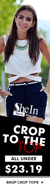 All crop tops under $23.19 at SheIn.com! Sale ends 4/4