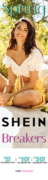 Spring Breakers Sale at us.SHEIN.com. Up to US$30 off with Code SBREAK20. Offer Expires 03/02/2020