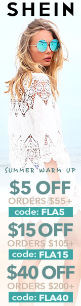 Enjoy $40 off orders $200+ with coupon code FLA40 at SheIn.com! Ends 6/12
