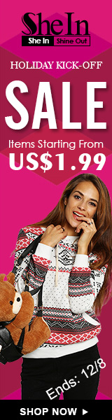 Save on items starting from just $1.99 during the Holiday Kick-Off Sale at SheIn.com! Ends 12/8