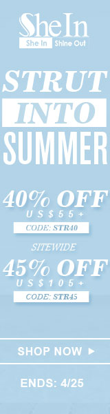Strut into summer with up to 45% off at SheIn.com! Ends 4/25