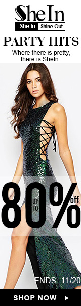 Save up to 80% off on Party dresses at SheIn.com! Ends 11/20