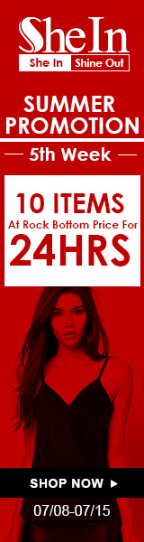 Summer promotion week 5: 10 items at rock bottom prices for 24 hours at SheIn.com