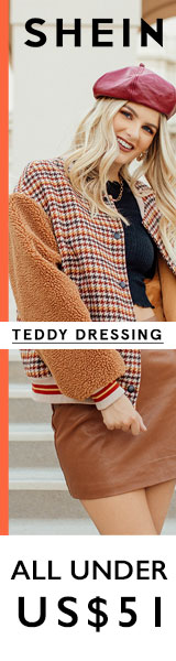 Hot Latest Trend - Teddy Dressing - Shop Teddy Bear Coats - All Items under $51 at us.Shein.com - Offer ends 11/5!