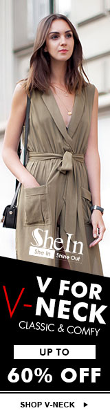 V Neck styles up to 60% off at SheIn.com! Sale ends 4/4