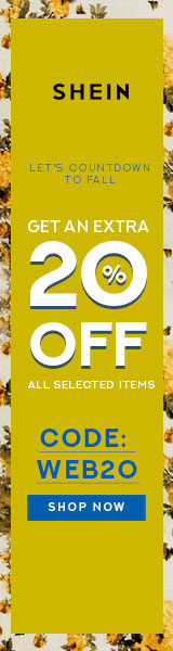 Let's Countdown to Fall! Save an EXTRA 20% off your purchase of selected items with Code WEB20. Limited Time Offer at SheIn.com