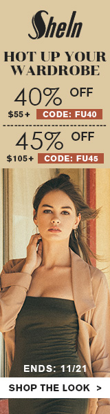 Enjoy 45% off orders $105+ with Coupon Code FU45 at us.SheIn.com! Ends 11/21 (US Only)