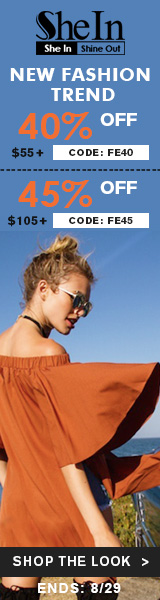 Enjoy 45% off orders $105+ with Coupon Code FE45 at us.SheIn.com! Ends 8/29 (US Only)