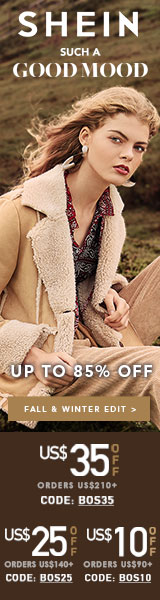 SUCH A GOOD MOOD at Shein.com! Right now get $35 off orders of $210 with Code BOS35. Offer ends 11/5!