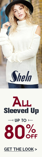 All Sleeved Up Sale!  Items up to 80% off at SheIn.com! Ends 12/12